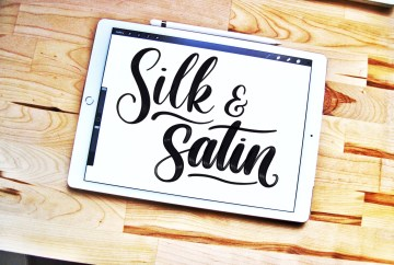 Silk and Satin Procreate lettering brushes