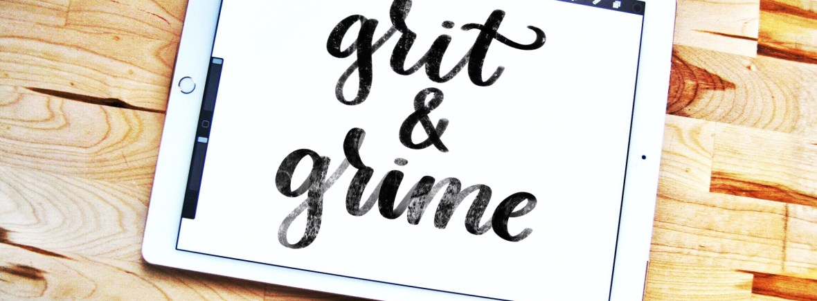 Grit and Grime free Procreate lettering brushes