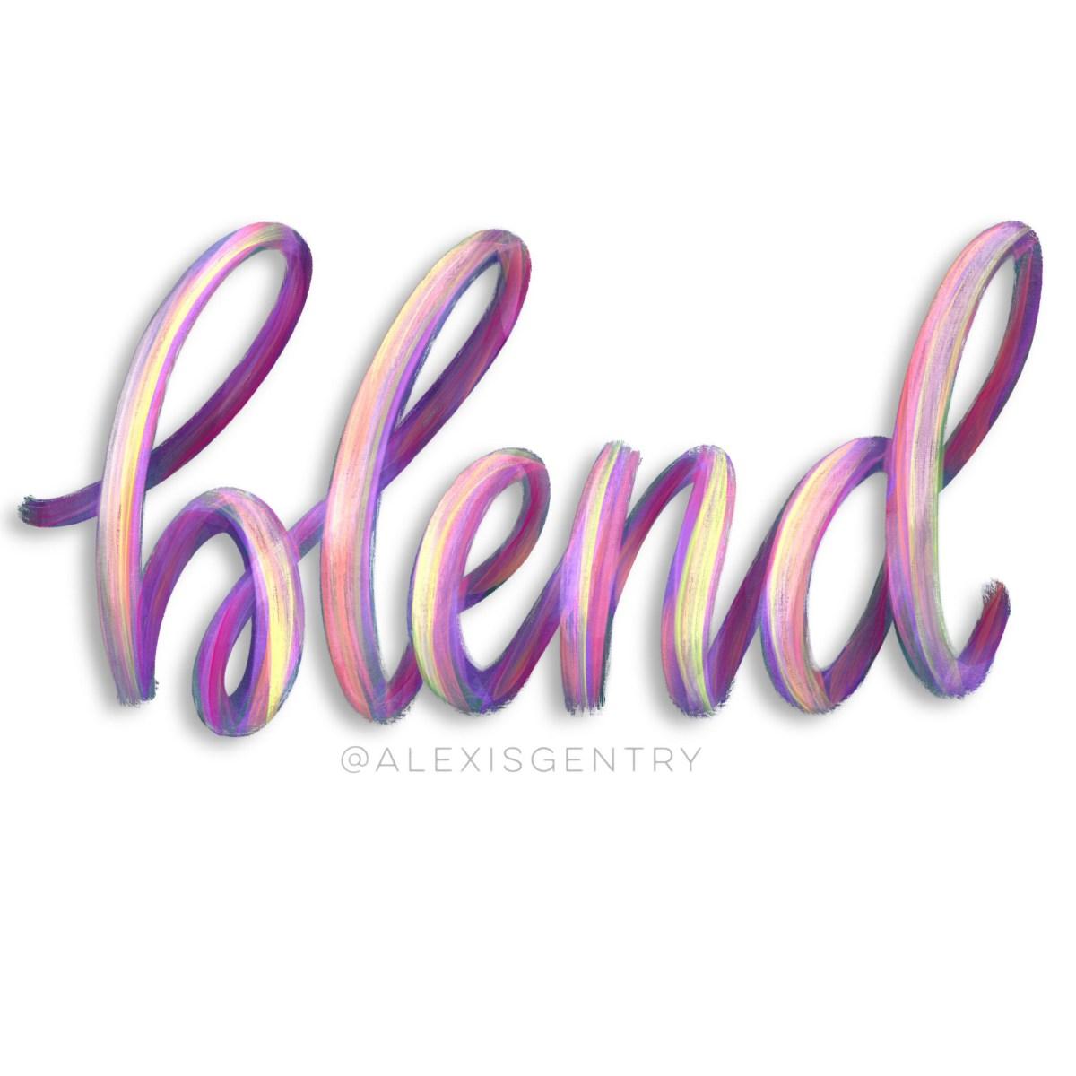 Blend - paint streak lettering in Procreate app