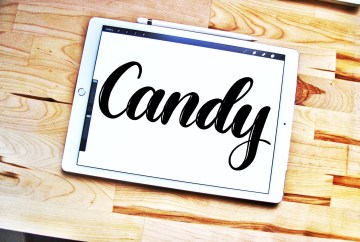 Candy lettering brush for Procreate app