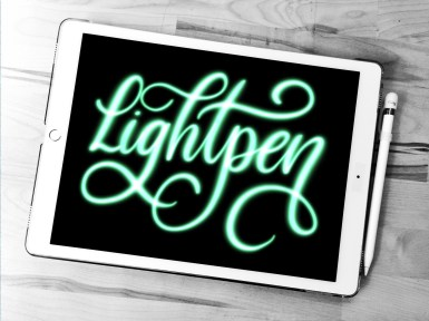 AG Lightpen Procreate lettering brush