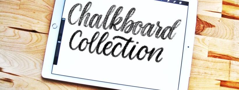Chalkboard lettering brush pack for Procreate