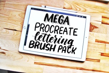 Procreate brushes for iPad lettering | Alexis Gentry