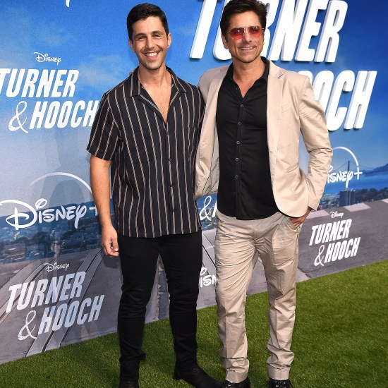 """John Stamos and Josh Peck at the premiere of """"Turner & Hooch"""""""