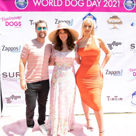 Lance Bass, Lisa Vanderpump and Iggy Azalea at the 5th Annual Vanderpump Dogs World Dog Day