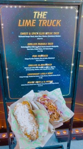 Street tacos at the second season premiere of Star Trek: Lower Decks