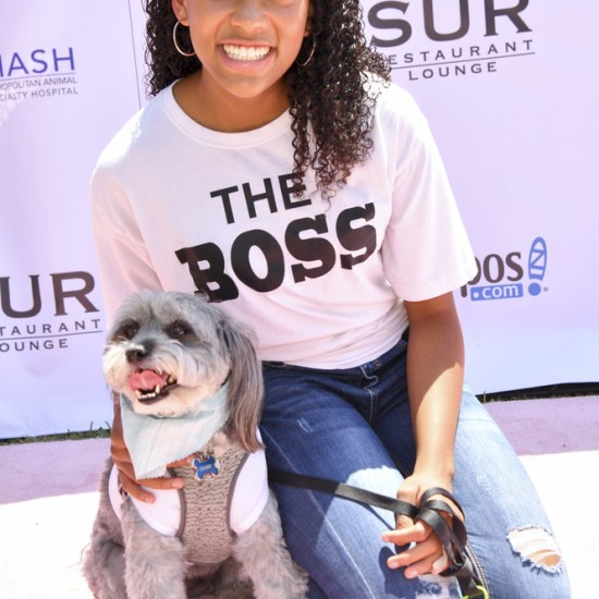 Actress Sydney Mikayla at the 5th Annual Vanderpump Dog Foundation's World Dog Day Event