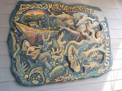 Mermaids never get the blues.