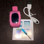 Pink Watch, USB Cable, Screwdriver, & Manual