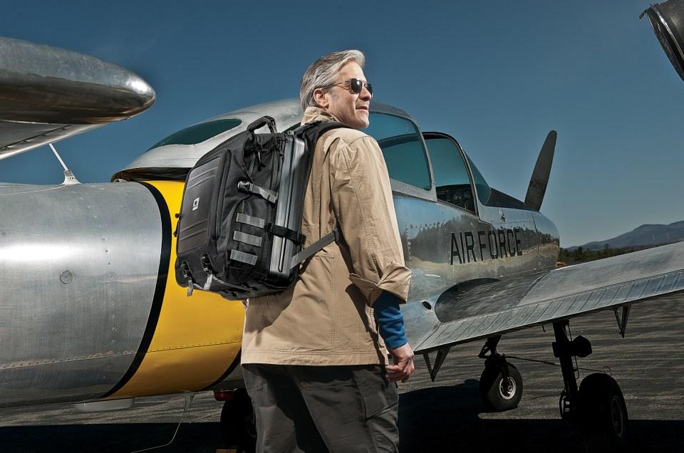 Esta mochila te permite llevar tu Laptop a donde sea
