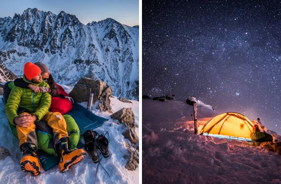 La pareja que tiene Citas en las Cimas de Las Montañas