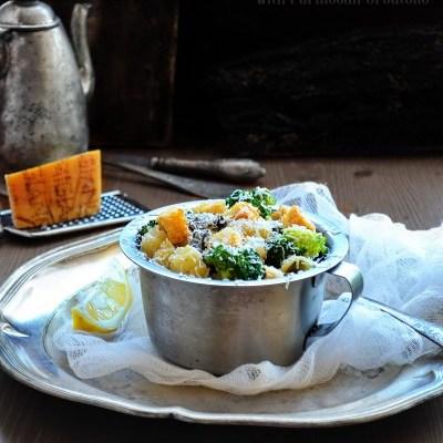 Paste cu Broccoli, Ciuperci și crutoane cu Parmezan