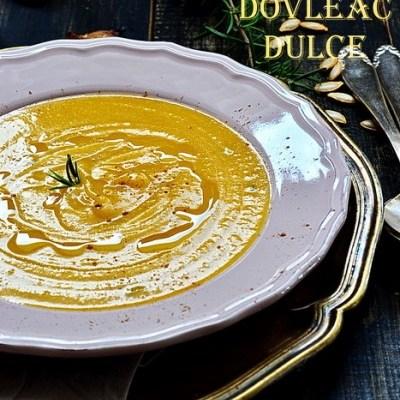Supă cremă de dovleac copt și dulce