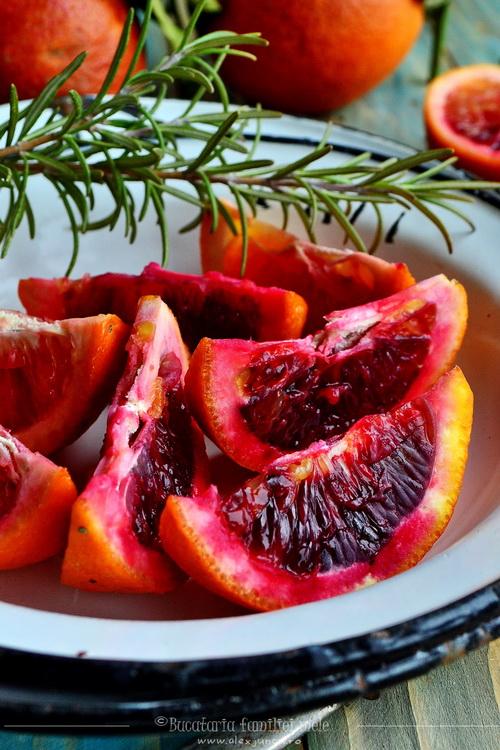 portocale rosii si rozmarin