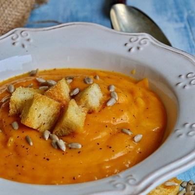 Supa crema de cartof dulce cu ghimbir