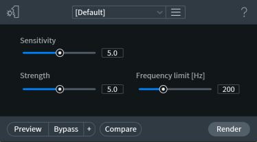 restauro audio de plosive