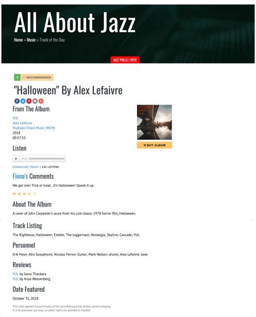 Alex Lefaivre Quartet/Trio Archives -