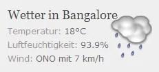 Wetteranzeige 18°C