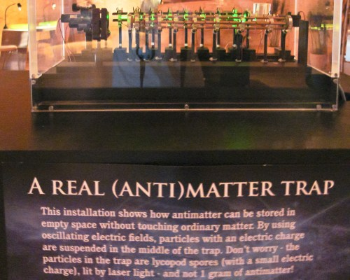 A real (anti)matter trap