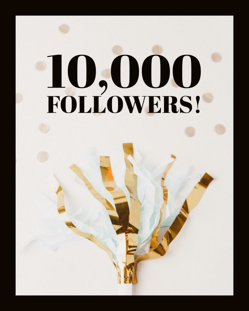 10,000 followers on Twitter!