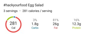 Nutrition - Egg Salad