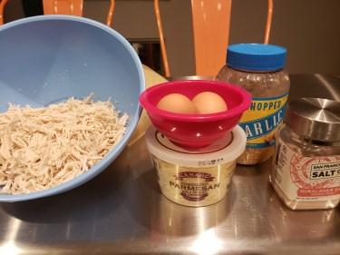 Ingredients - Flourless Chicken Crust Pizza
