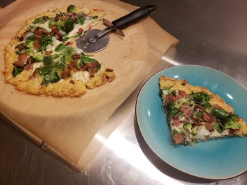 Plated - Flourless Chicken Crust Pizza