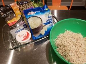 Ingredients - Cheddar Chicken Bake