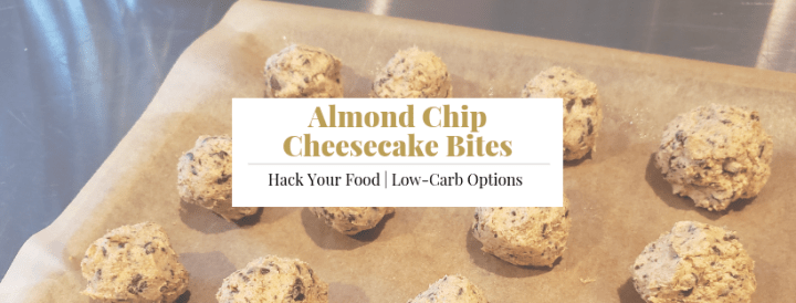 Almond Chip Cheesecake Bites
