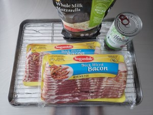Ingredients - Keto Woven Bacon Pizza Crust