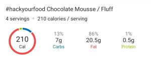 Nutrition - Keto Chocolate Mousse : Fluff