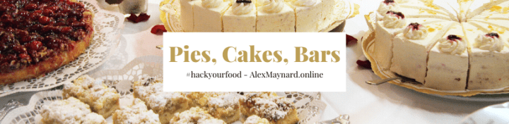 Dessert Banner - Pies Cakes Bars Recipes