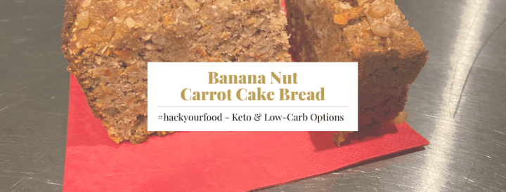 Keto Banana Carrot Cake Bread