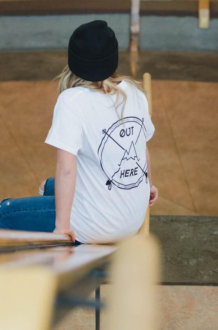 Apparel modeling for Thompson Rivers University ski and snowboard club.