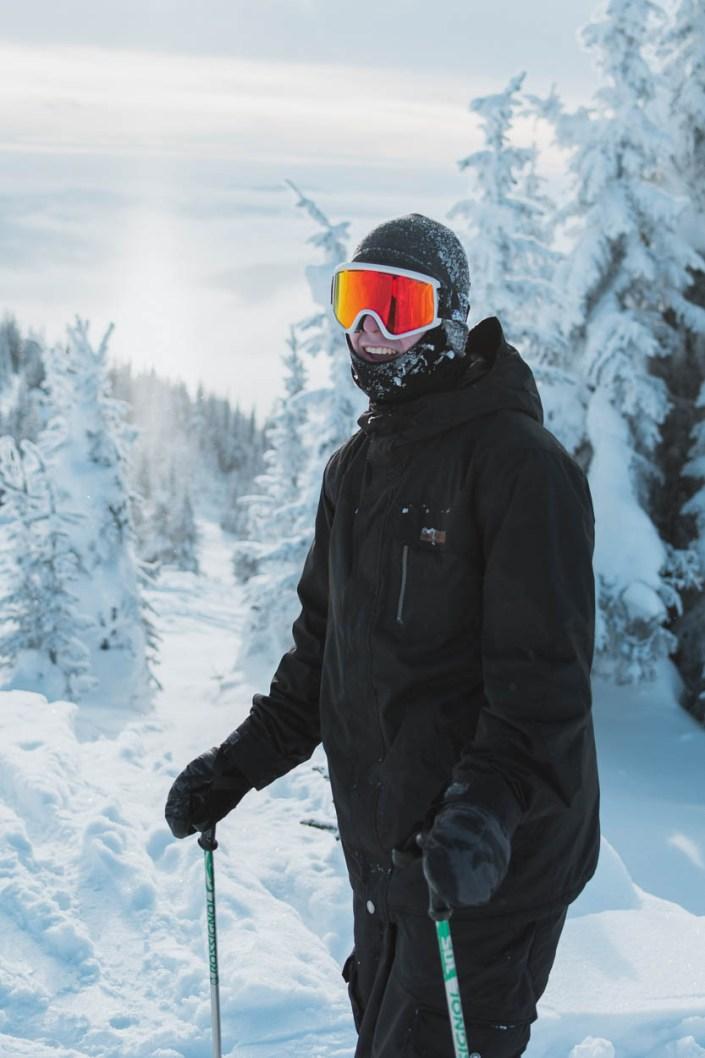 A skier at sun peaks resort