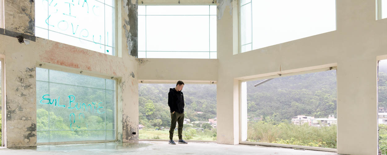 Exploring abandoned hotel outside of Taipei