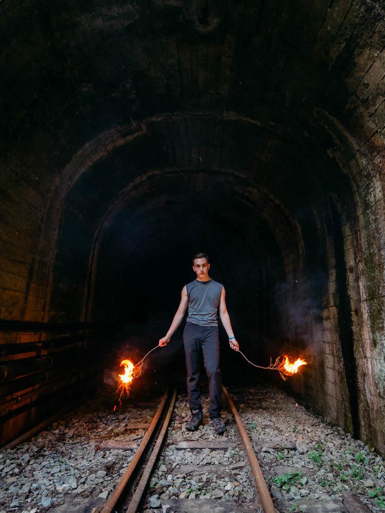 Exploring the train tunnels of Alishan Taiwan