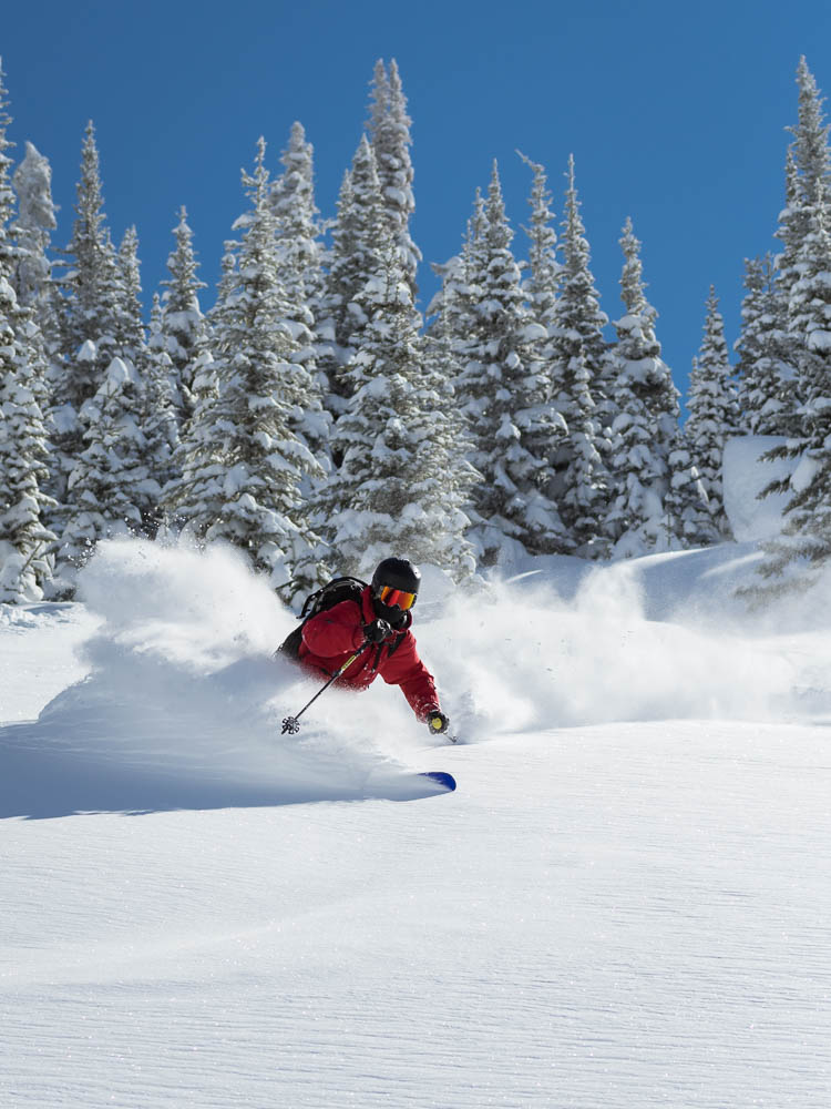 A day of deep snow at Sun Peaks Resort skiing