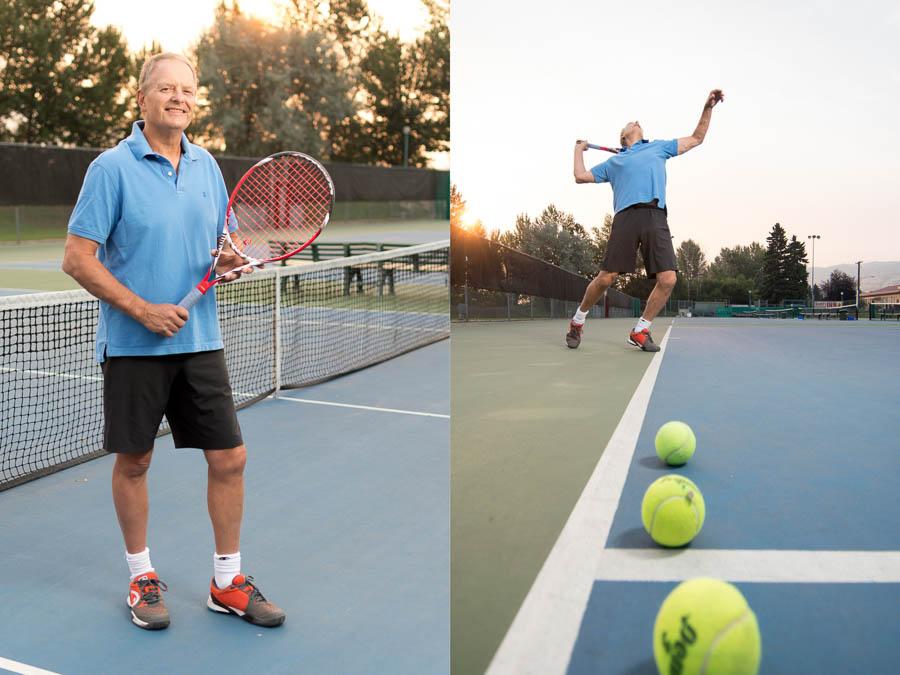 Kamloops tennis player.