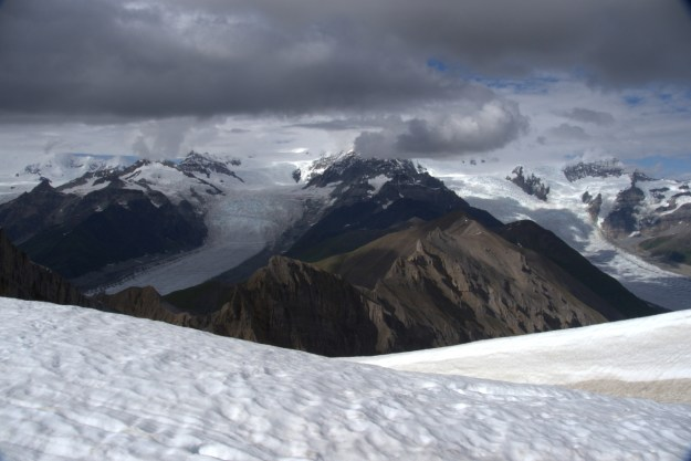 Looking North at Gates Glacier and the Stairway Icefalls.