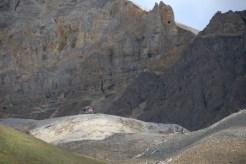 Looking up at Glacier Mine.