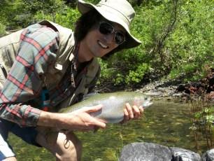 6/14/12: A lifetime rainbow trout. Upper Sacramento River, CA