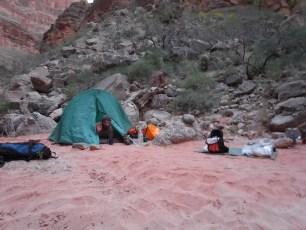 Campsite near Kanab confluence