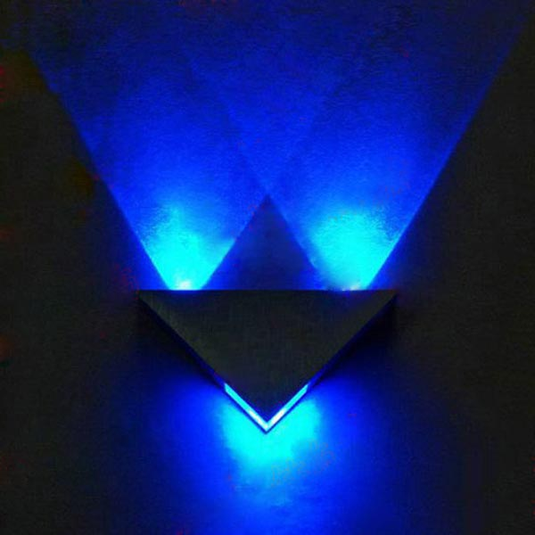 Modern High Power 3W LED Triangle Decoration Wall Light ... on Led Sconce Lighting id=65377