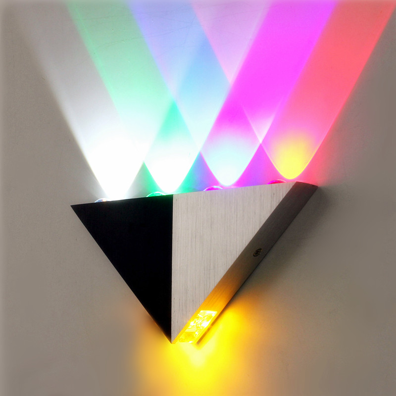 Multi-Color Triangle 5W LED Wall Sconce Lamp Up & Down ... on Led Sconce Lighting id=32895