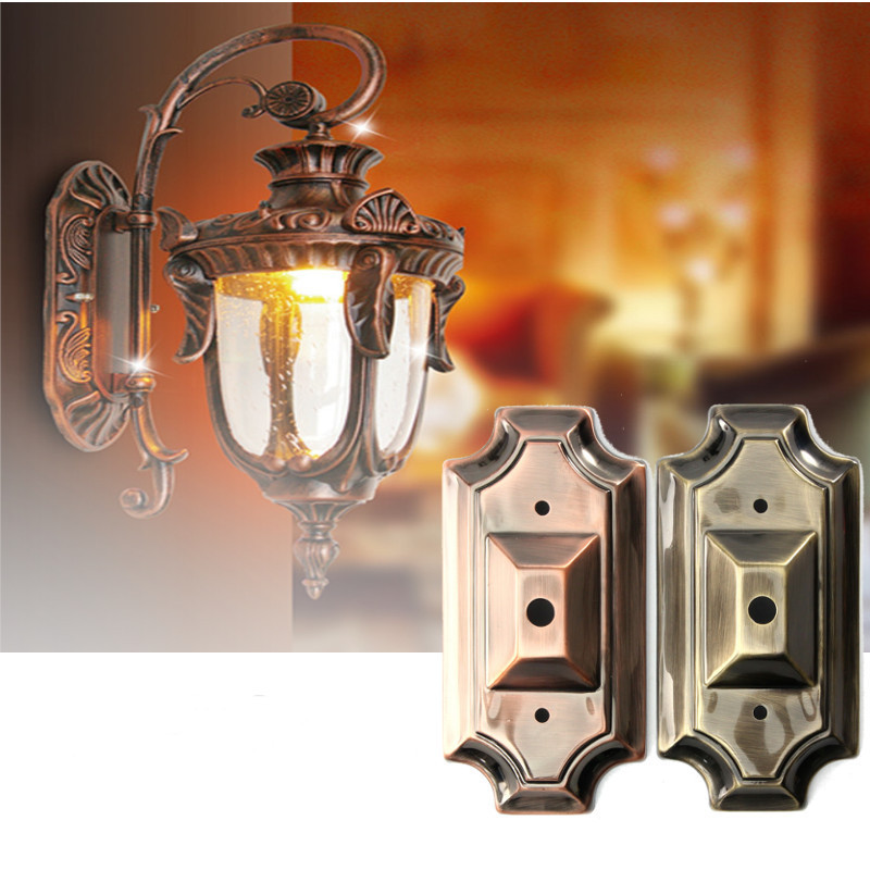 Retro Vintage Rectangle Style Sconce Wall Lamp Light Base ... on Wall Sconce Parts id=70611