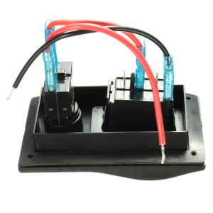 12V Dual LED Rocker Bilge Pump Switch Panel Circuit Breaker Auto Off Manual | Alexnld