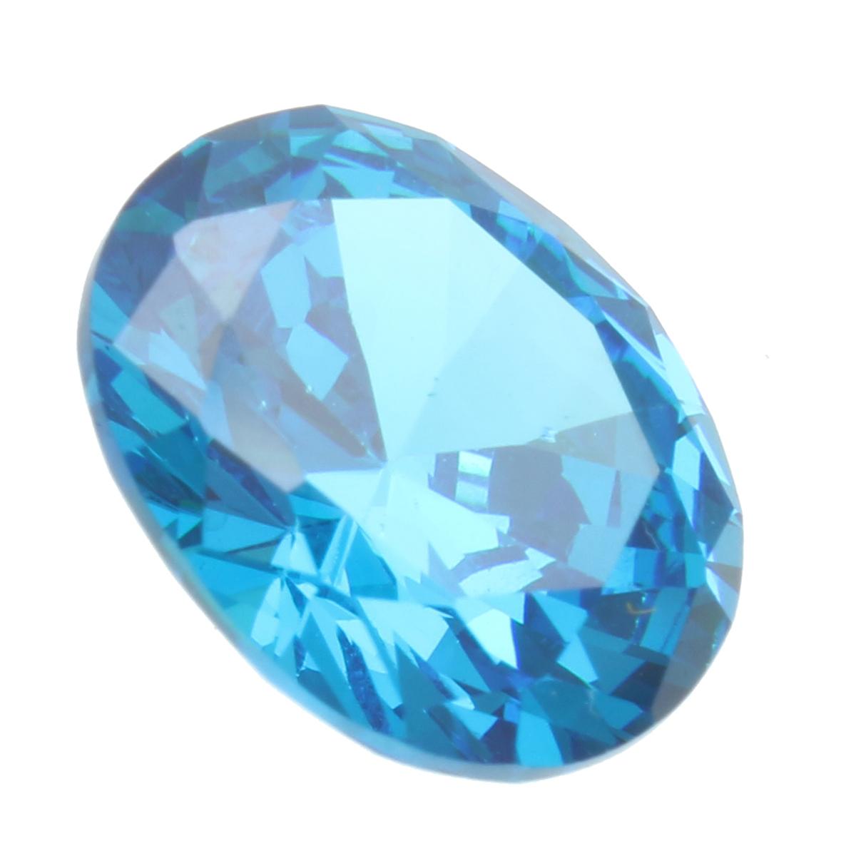 10x12mm Diamond Oval Light Blue Artificial Zircon Jewelry Diy Making Loose Gemstone Decoration Alexnld Com