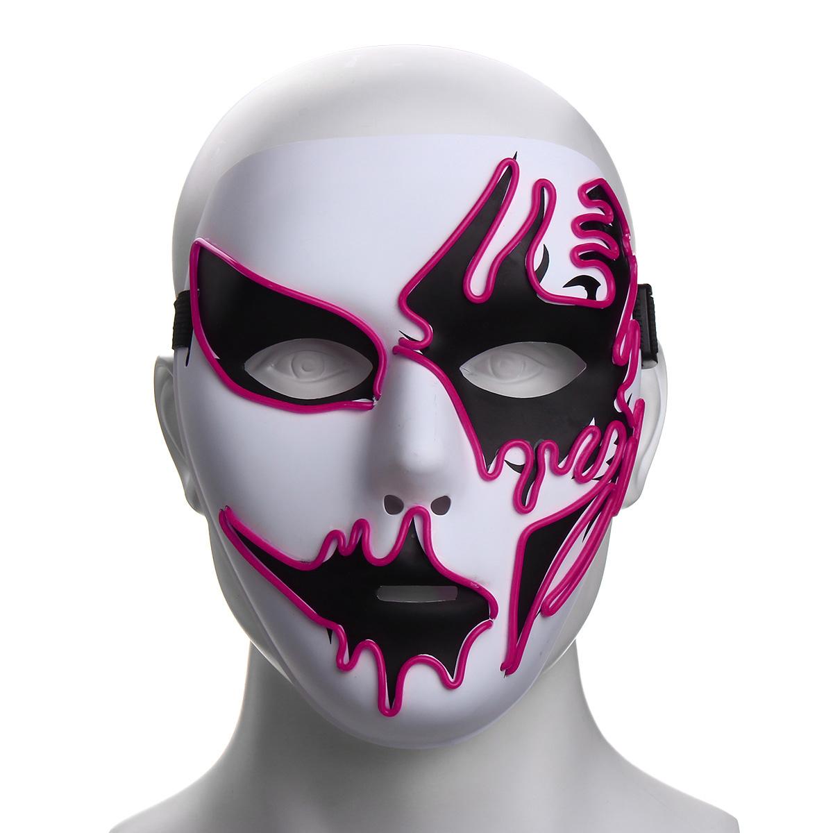 Halloween Mask Led Luminous Flashing Party Masks Light Up