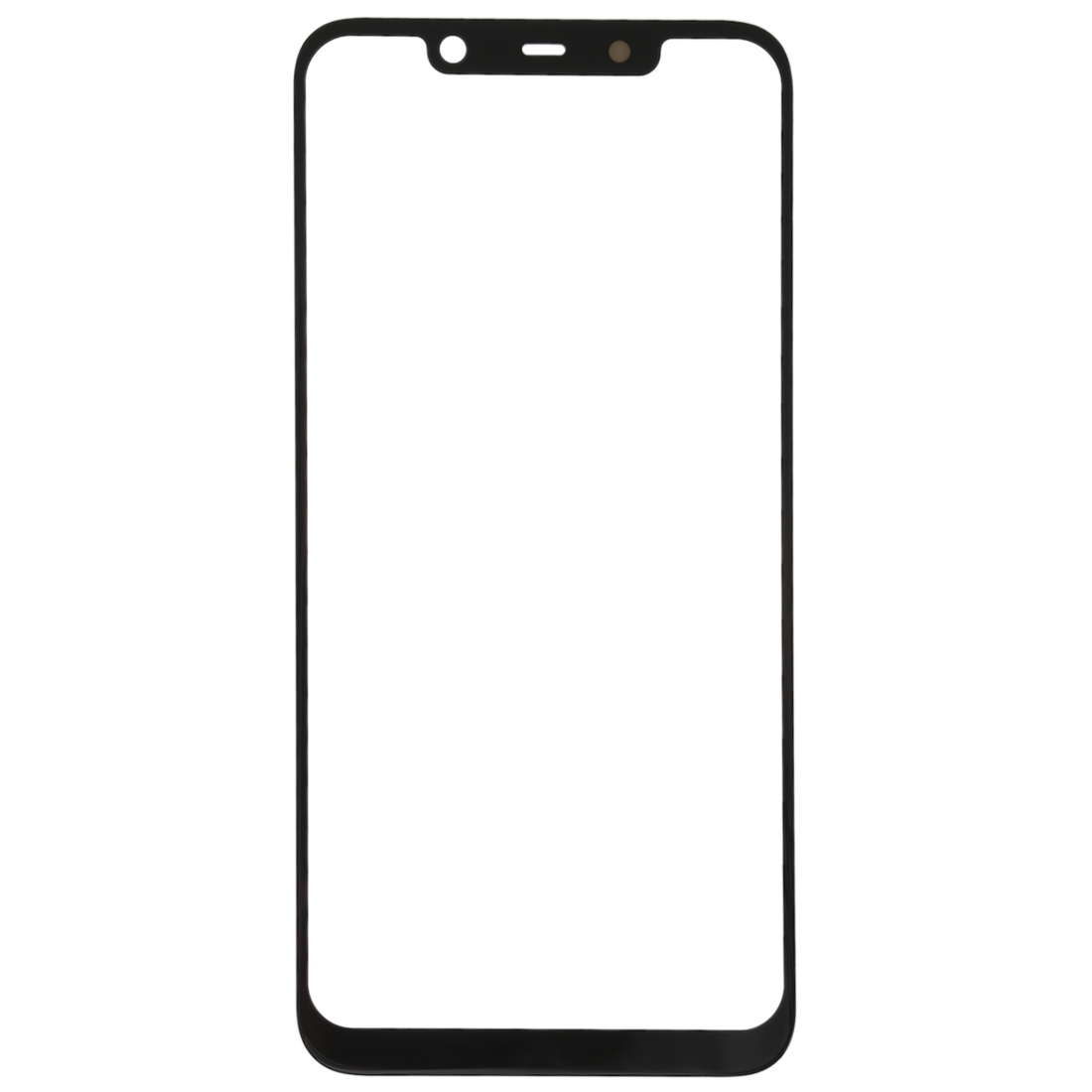 Front Screen Outer Glass Lens For Nokia X7 Black